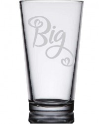 Big/Little Etched Glasses