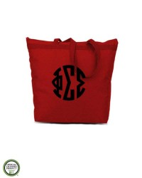 Phi Sigma Sigma Monogram Cotton Tote Bag