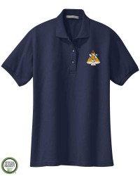 Phi Sigma Sigma Crest Embroidered Short Sleeve Polo