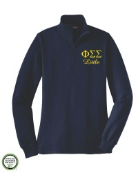 Phi Sigma Sigma Big/Little Embroidered 1/4 Zip Sweatshirt